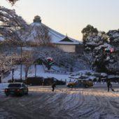 4年ぶりの大雪で九段坂も雪国もよう