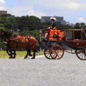 信任状捧呈式のための馬車列(皇居前広場)