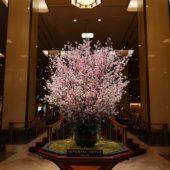 帝国ホテルのロビー装花